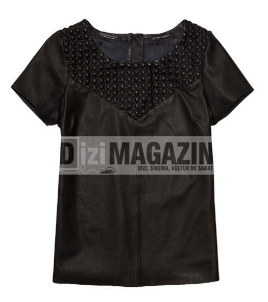 Medcezir Mira'nın Siyah Deri Bluzu Scotch&Soda