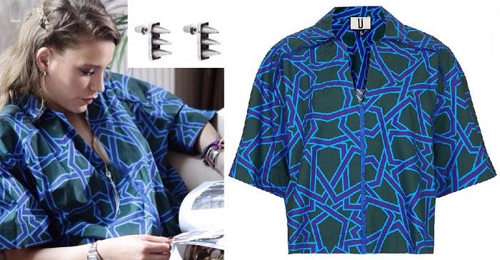 Medcezir Mira mavi Bluz Topshop - Küpeler Bendis