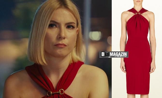 Medcezir Sude - Kırmızı Elbise - Gucci